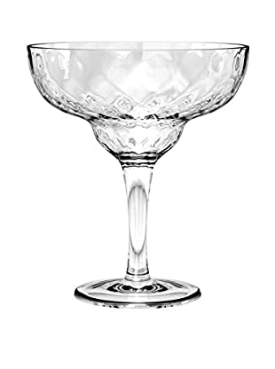 Textured Acrylic Margarita Glass, Clear