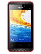 Intex Crystal 701 Dual SIM Mobile Phone - Red
