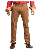 FN Jeans Brown Colored Regular Fit Trouser For Men | FNJ1000LB
