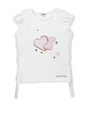 Simonetta Girl's Tulle Love Tee (White)