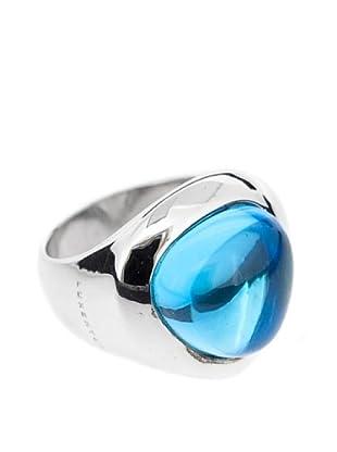 Luxenter Anillo Kula Azul Topacio Cuarzo