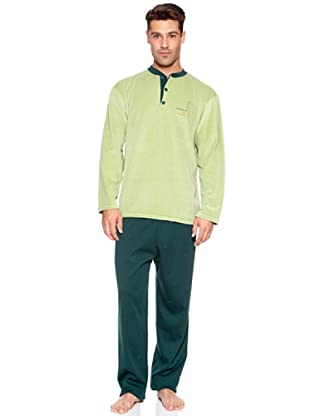 Basket Pijama Camiseta Velour Pantalón Punto (Verde)