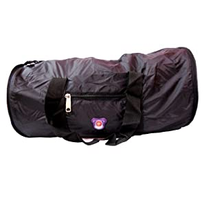 Donex Nylon 9 inches Black Gym bag