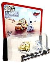 Disney Cars Star Wars Luigi & Guido As C3PO C-3PO & R2 D2 Disney Mattel 1:55 Scale Limited Edition