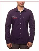Unicott Men's Slim Fit Shirt (Purple_XX-Large_2001_Purple_XXL)