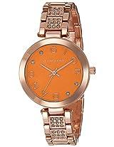 Giordano Analog Orange Dial Women's Watch - A2040-44