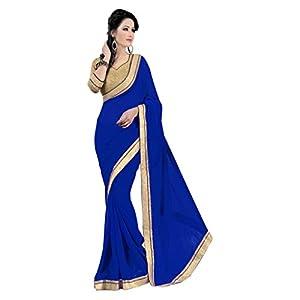 Janasya Chiffon Saree (Jne0126B _Blue)