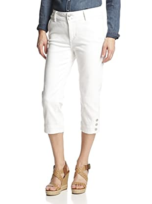 NYDJ Women's Cameron Cropped Jean (Optic White)