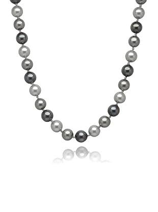 Perldor 60650060 - Collar de mujer de plata de ley con perla natural Gris 45 cm