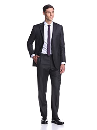 Hickey Freeman Men's Stripe Suit (Charcoal)