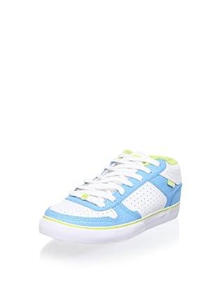 C1RCA Women's 8 Track Sneaker (White/Blue/Lime)