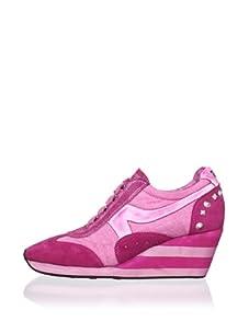 Ash Women's Austin Wedge Sneaker (Fuchsia)