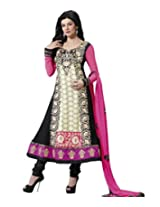 Tantalizing Black Color Party Wear Anarkali Suit
