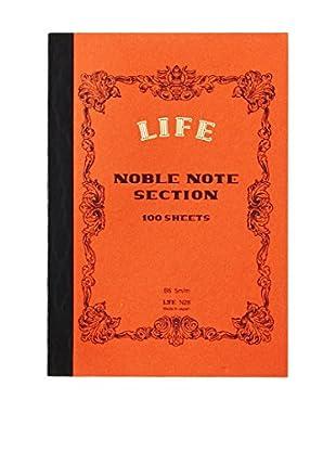 Life Co., Ltd. Noble Note Section B6 Grid Notebook, Orange