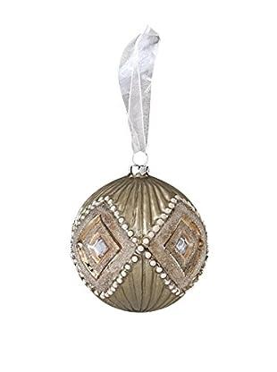 Sage & Co. Diamond Pattern Glass Ball Ornament