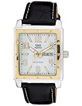 Q&Q Shogun Analog White Dial Men's Watch - S204-504Y