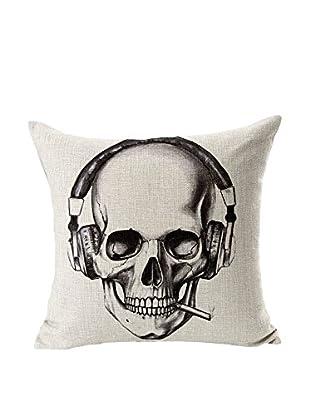 LO+DEMODA Funda De Cojín Skull Music 45 X 45 cm
