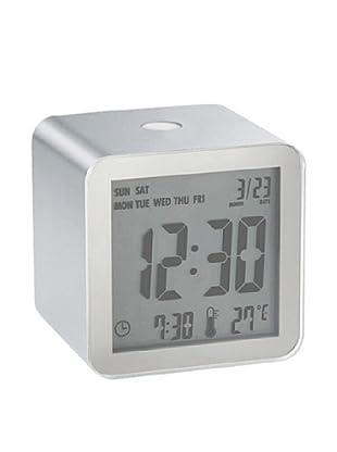 Lexon Cube Sensor Alarm Clock, Aluminum
