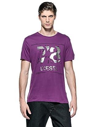 Diesel Camiseta T-Taia-Rs (Morado)