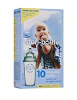 Steribottle Ready to Use Disposable Baby Bottles, 10-Count
