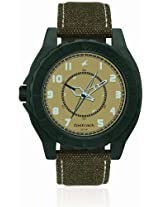 Fastrack OTS Explorer Analog Beige Dial Men's Watch - 9462AL02
