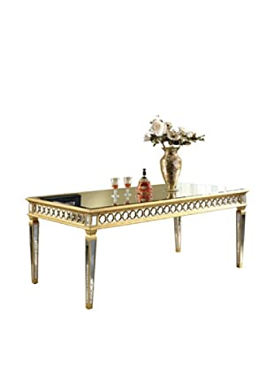 Audrey Mirrored Dining Table, Gold Leaf