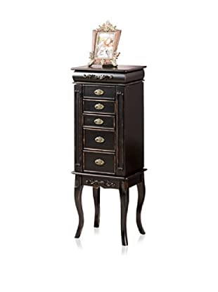 Moss 5 Drawer Jewelry Armoire (Black)