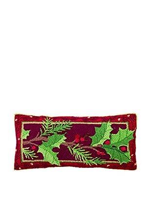 Peking Handicraft Holly Lumbar Pillow, Multi