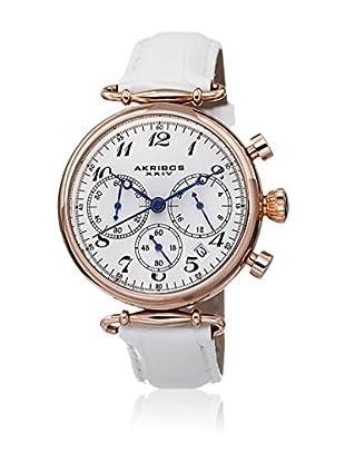 Akribos XXIV Reloj con movimiento cuarzo japonés Woman Rose-tone/ White