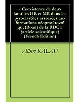 « Coexistence de deux familles HK et MK dans les pyroclastites associées aux formations néoprotérozoïque(Roan) de la RDC » (article scientifique)
