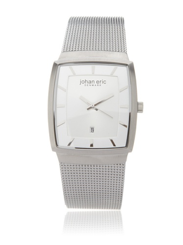 Johan Eric Men's JE1004-04-001 Tondor Tonneau Silver Mesh Stainless Steel Watch