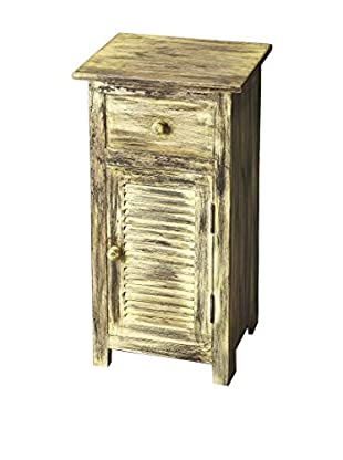 Butler Specialty Company Ambrose Rustic Chairside Chest, Light Grey