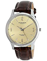 Akribos XXIV Men's AK539BR Essential Analog Display Swiss Quartz Brown Watch