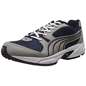 Puma Men's Typhoon 3.5 Grey and Blue Mesh Running Shoes - 6 UK/India (39 EU)