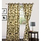 beautiful green design color curtain(4x7ft)