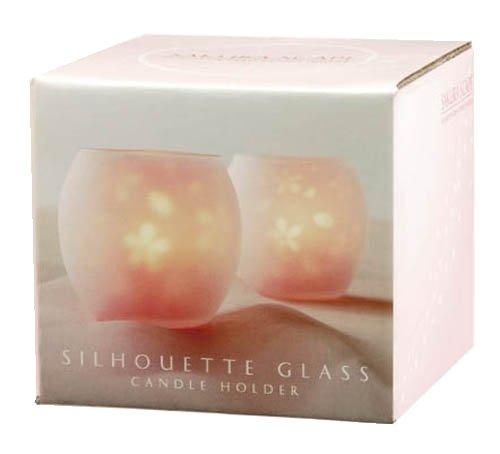 桜 シルエットグラス サクラスケープ(キャンドル付き)