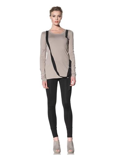McQ by Alexander McQueen Women's Long Sleeve Bondage Shirt (Rust Brown)