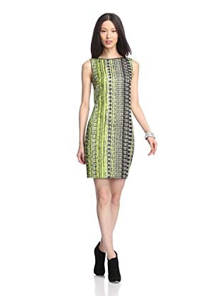 Elie Tahari Women's Alyse Liquid Jacquard Dress (Margarita/Black)