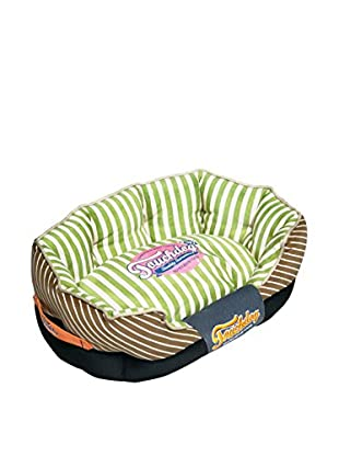 Touchdog Striped Ultra-Plush Rounded Designer Dog Bed