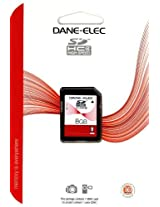 Dane-Elec Memory Dane-Elec 8 GB Class 4 SDHC Flash Memory Card DA-SD-8192-R Secure Digital
