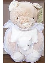 4-Piece Plush Gift Set Beige Bear