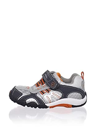 Stride Rite Kid's Throttle Sneaker (Toddler) (Silver/Orange)