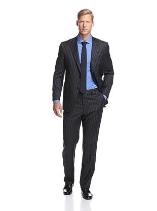 Samuelsohn Men's Stripe Suit (Grey Stripe)