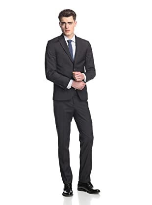 Simon Spurr Men's Pinstriped 2-Button Suit (Black)