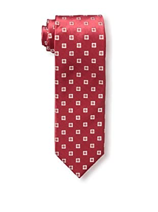 Massimo Bizzocchi Men's Star Tie, Red