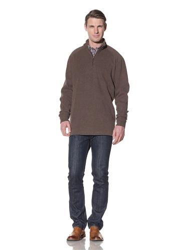 Hart Schaffner Marx Men's Quarter Zip Pullover Sweater (Brown)