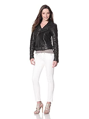 Cote by IMPROVD Women's Lara Leather Motorcycle Jacket (Black)