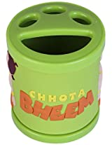 Chhota Bheem 2 in 1 Green Pen stand/Tooth Brush Holder