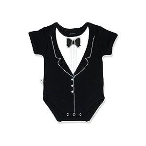 Frenchie Mini Couture Onesie Bodysuit Tuxedo (3-6 months)