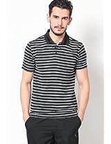 Black Striped Polo T Shirt
